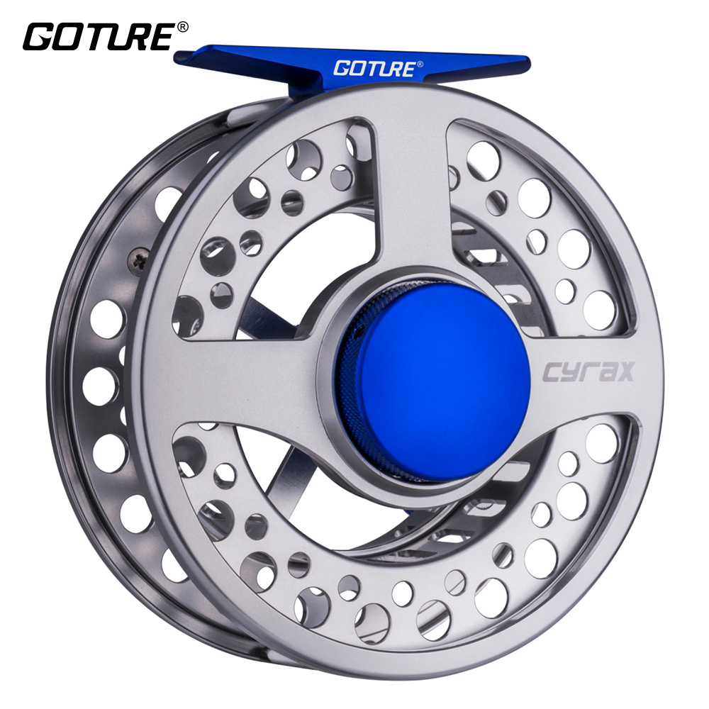 Goture Cyrax Fly Fishing Reel CNC-machined Aluminium 5/6/ 7/8WT Large Arbor Fly Reel Wheel Right Left Handed moulinet mouche dla58 cnc processed gasoline engine petrol engine 58cc for gasoline airplanes with walbro carburetor and nsk bearing