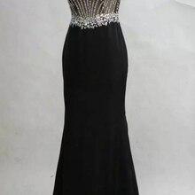 Vraies фотографии de pierres noires длинное вечернее платье sirene nouveaute mariage