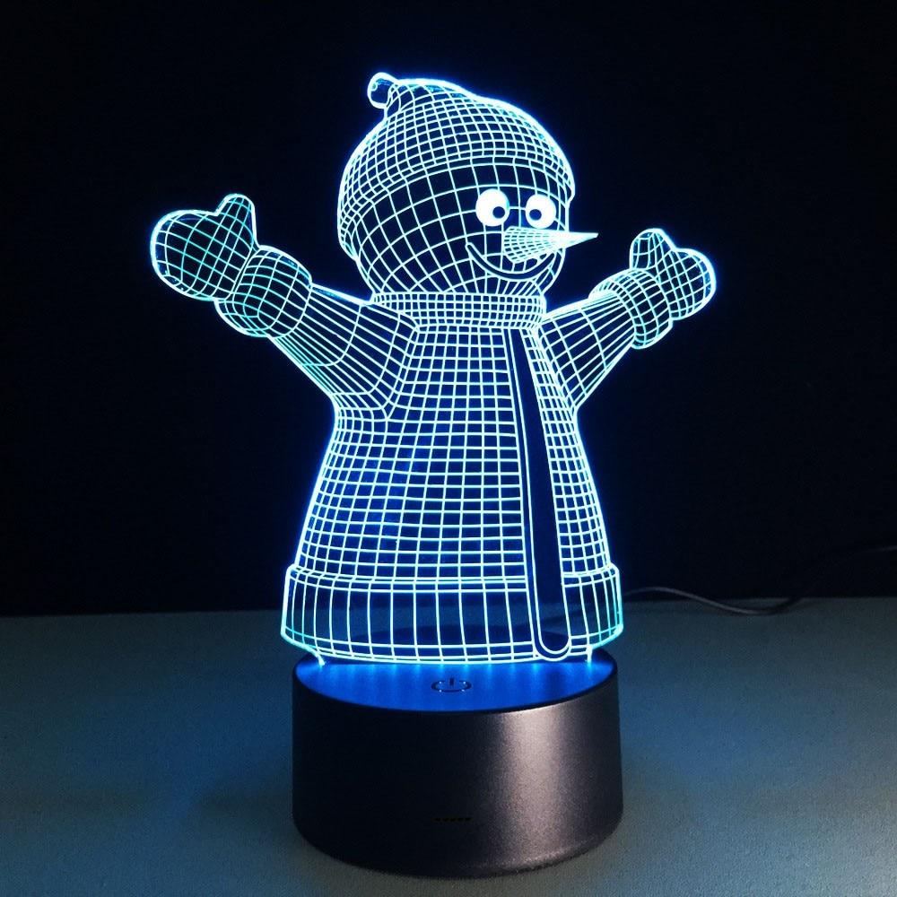2018 USB Night Light 3D Vizual illüziya lampası Uşaqlar Yeni İl - Gecə işığı - Fotoqrafiya 6