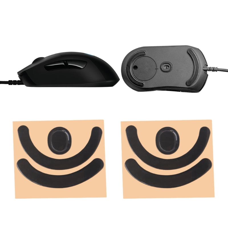 2 Sets 0.6mm Black Cute Mouse Foot Stickers For Logitech G403 Games Laser Gaming Mouse Teflon Feet Mice Skates