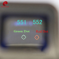 Element 551 552 Holographic Red Green Dot Sight Scope Optic Sight Reflex with 20mm Rail Mounts for Airsoft Paintball EX005
