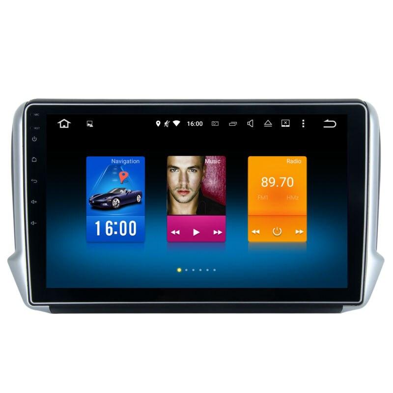 imágenes para Coche 2 din android GPS para Peugeot 2008 208 autoradio la unidad principal de navegación multimedia 2 Gb + 32 Gb 64bit PX Androide 6.0 PX5 8-Core