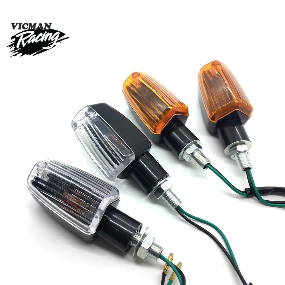 Motorcycle Turn Signal Lights 4Pcs Blinker Bulb Amber Flasher Light For Honda Kawasaki Suzuki Yamaha Lamp Universal