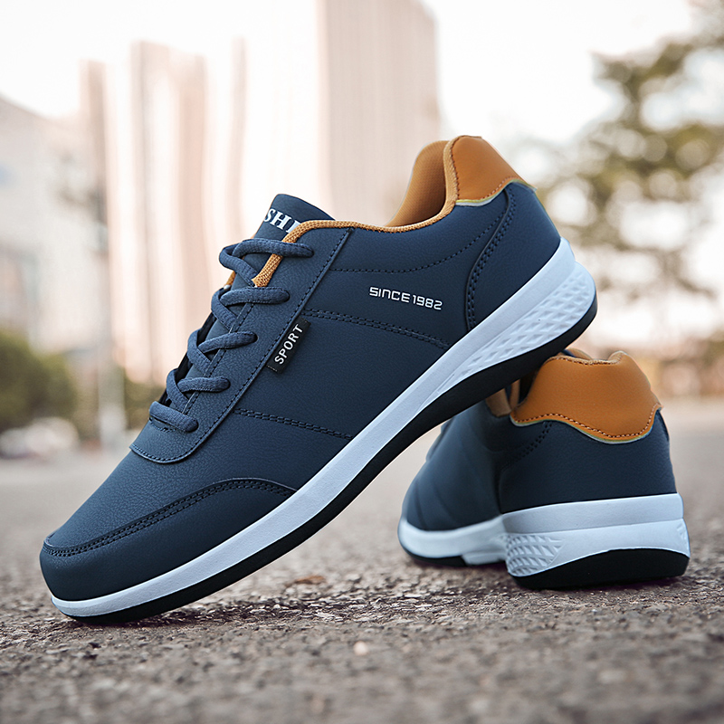 Image 5 - OZERSK 2020 Hot Sale Autumn Men Sneakers Fashion Men Casual Shoes Leather Breathable Comfortable Man Shoes Lightweight ShoesMens Casual Shoes   -