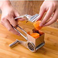 Rotary Cheese Grater Stainless Steel Cheese Slicer Kitchen Cheese Butter Cutter For Cake Chocolate Fondue Cooking