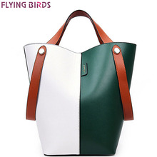 FLYING BIRDS women handbags patchwork women bucket bag shoulder bags female tote high quality women's messenger bags LM3868fb