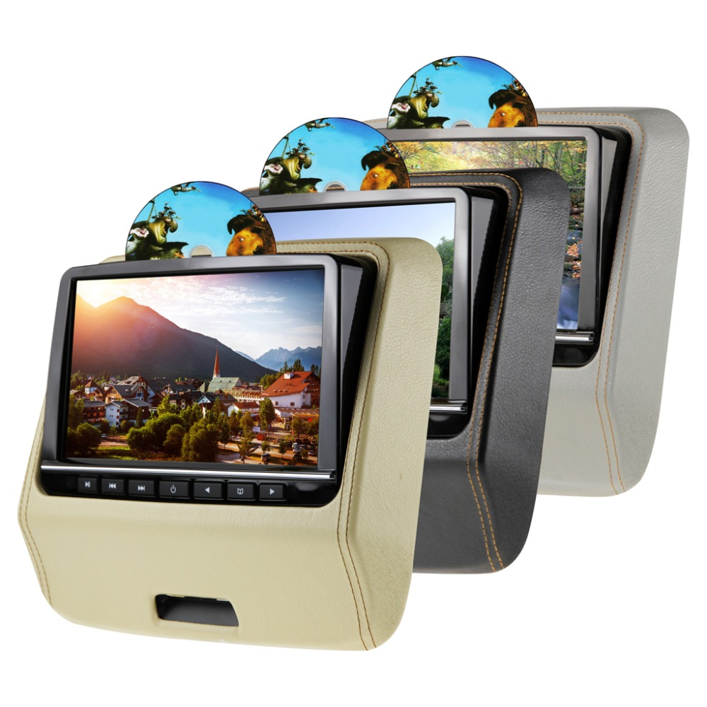 9 Swivel HD LED Active Headrest DVD Player with HDMI