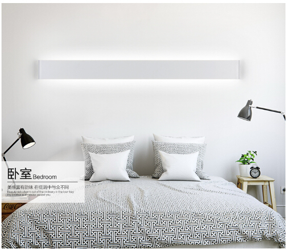 14W/41cm black/white aluminum led Sconce Indoor Wall Lamp bedroom bathroom mirror light decor Lighting Fixtures 100-240V 1754