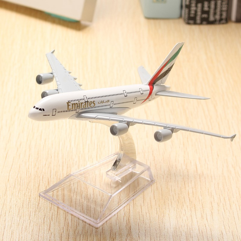 Model New A380 Emirates Plane Mannequin 16cm Airline Airplane Aeroplan Diecast Mannequin Assortment Decor Toys Reward For Youngsters