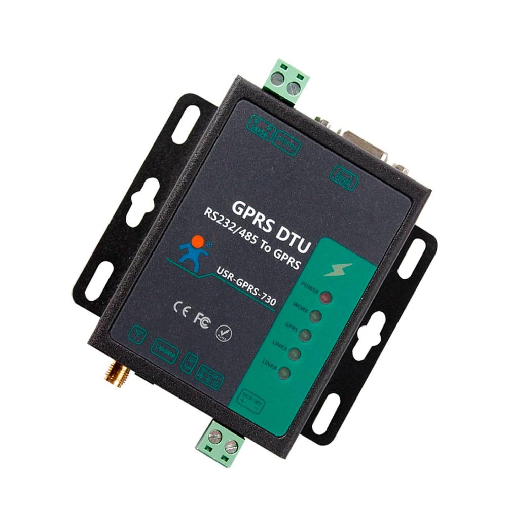 USR-GPRS232-730 серийный чтобы GPRS сервер RS232 GPRS RS485 в конвертер GPRS