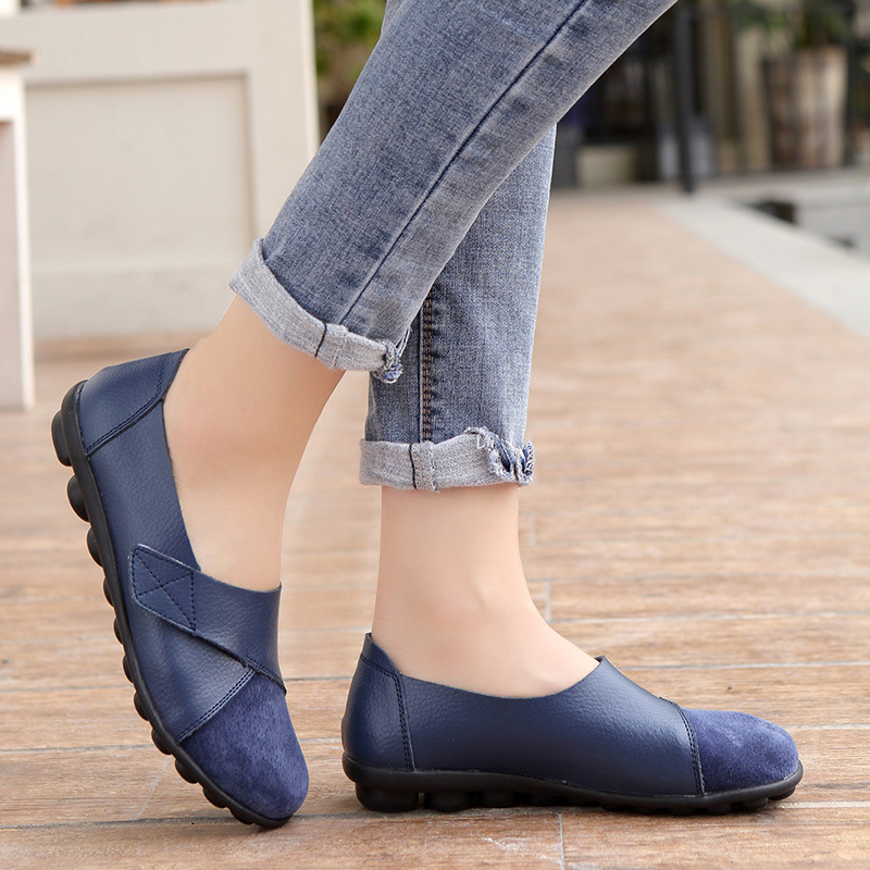 Shoes Flats Soft-Loafers Spring Women Moccasins Non-Slip Autumn Genuine-Leather New-Fashion