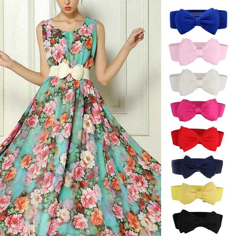 Fashion Dresses Belts Bowknot Belt Quality High Lace For Vintage Women Belt Girls Elastic Band Waist
