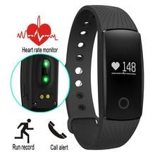 Bande à puce ID107 Fitness Tracker Bracelet À Puce Montre OLED Fréquence Cardiaque moniteur Intelligent Bracelet pour Android iOS PK mi bande 2 ID107