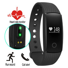 Smart Band ID107 Фитнес трекер Смарт часы-браслет OLED сердечного ритма Мониторы умный Браслет для андроид iOS PK Mi band 2 ID107