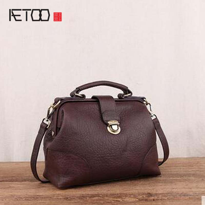 AETOO Leather leather handbag bag 2017 new Korean version of the personality of the atmosphere of the general wild soft leather fluid mechanics of the atmosphere 47