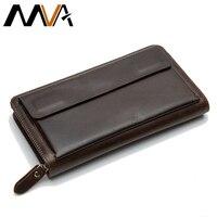 Men Wallet Zipper Genuine Leather Men S Wallets Cowhide Purse Men Wallet Card Holder Fashion Business