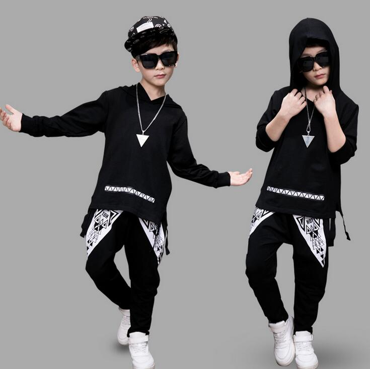 3 -14 Years Big Boys Girls Clothing Sets Kids Autumn Spring Clothes Outfits Long Sleeve Hoodies + Haren Pants vetement garcon baby girls boys clothes sets 2017 spring autumn kids grey long sleeve sweater khaki trousers 2pcs suit boys casual outfits