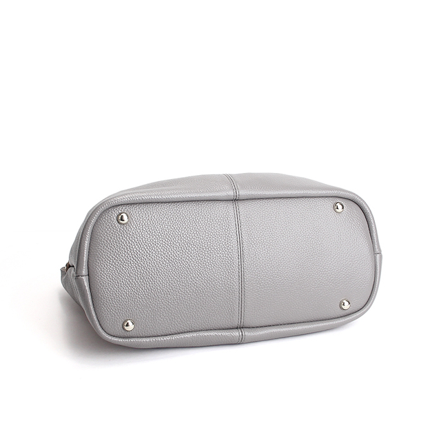 Genuine Leather handbags head layer cowhide litchi grain women handbags fashion Portable shoulder messenger bags composite bags 5