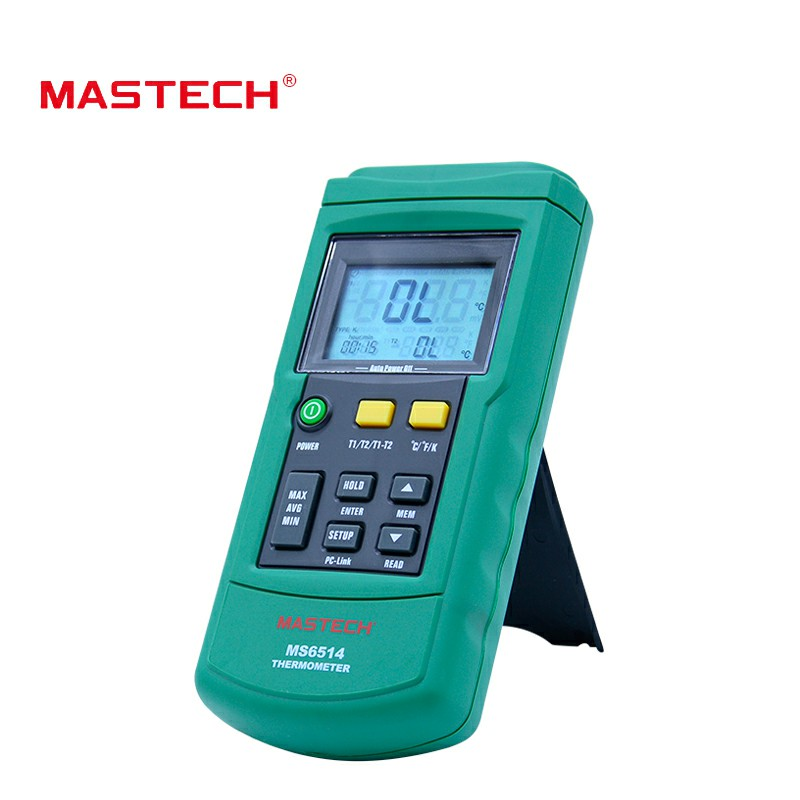 MasTech MS6514 Digital Thermometer Dual Channel Temperature Logger Tester USB Interface 1000 Sets Data KJTERSN ThermocoupleMasTech MS6514 Digital Thermometer Dual Channel Temperature Logger Tester USB Interface 1000 Sets Data KJTERSN Thermocouple