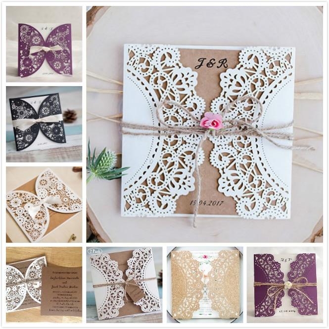 Cheap Wedding Invitation Paper: 1 Set Sample Design Wedding Invitations Cards Blank Paper