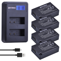 4Pcs LPE17 LP E17 LP E17 Battery+LCD USB Dual Charger for Canon EOS 200D M3 M6 750D 760D T6i T6s 800D 8000D Kiss X8i Cameras