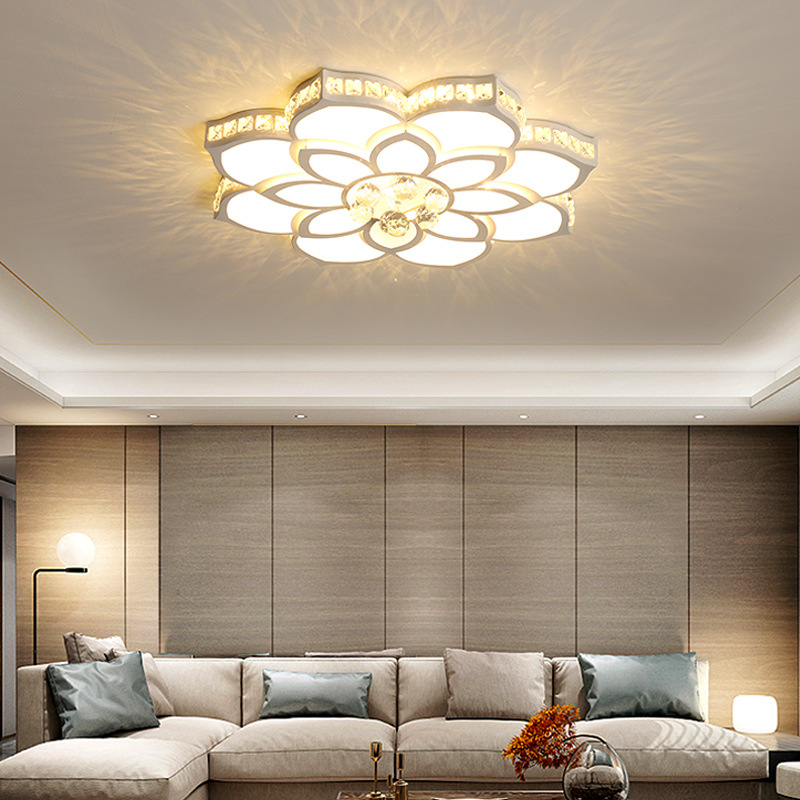 New Round crystal chandelier Lights Home Lighting ledlamp Living room Bedroom plafonnier Round led chandelier lampadari fixtures|Ceiling Lights|   - title=