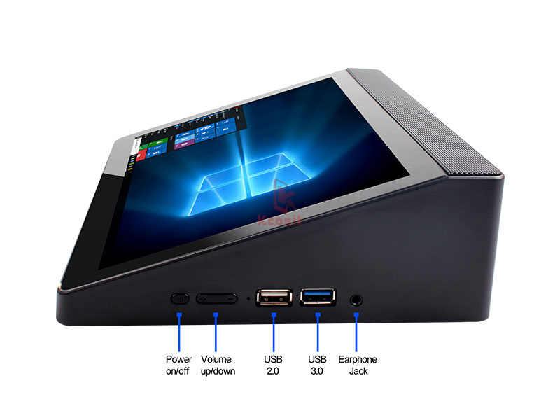 """Мини ПК настольный компьютер планшет все в одном ПК A9 Windows 10 Home 10,1 """"экран Intel Z8350 2 Гб ram HDMI бизнес Pos терминал"""