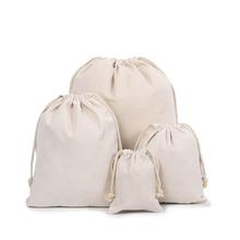 Ручная работа, хлопковая Льняная сумка для хранения упаковки, сумка на шнурке, маленькая сумочка для монет, дорожная женская маленькая тканевая сумка, Рождественский Подарочный мешочек