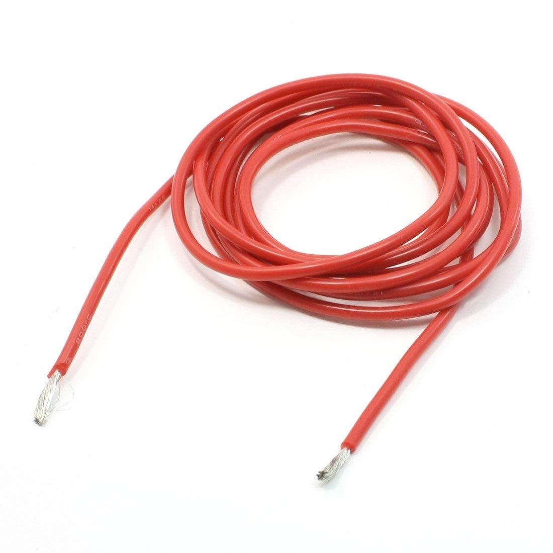 sourcing map Tubo de manguera de tubo de goma de silicona de 5 mm x 7 mm de alta resistencia resistente rojo 1 metro de largo