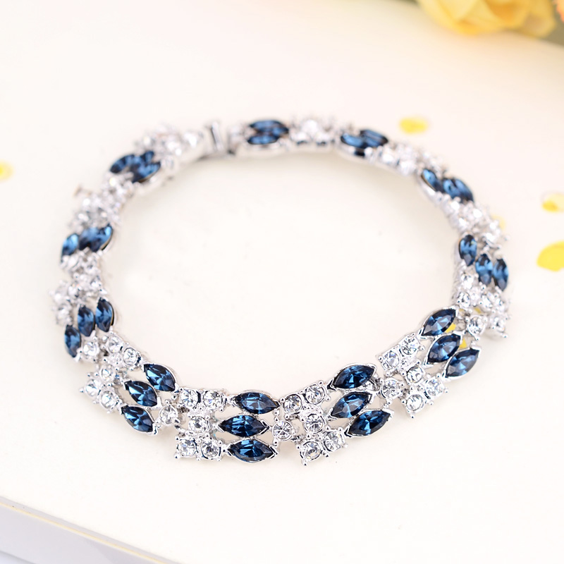 B171042 New Luxurious elegant crystal bracelet zinc alloy silver color rose gold color with Austria crystal