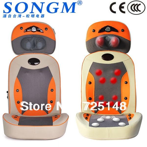 New Electric Shiatsu Massage Chair Cushion With Heat Massager