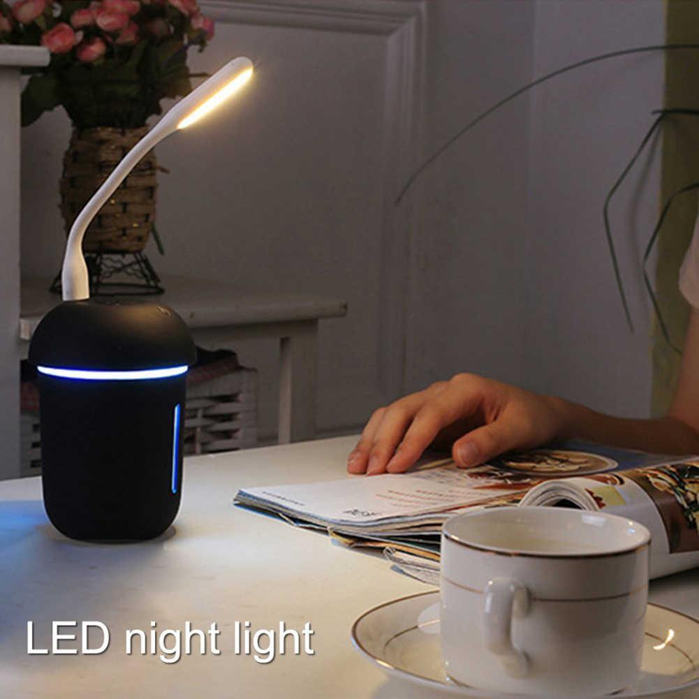 Đa chức năng 3 trong 1 CỔNG USB Sạc Máy Lọc Không Khí Đồng Hồ Nước Quạt LED 7 Màu Nightlight Nấm Máy Phun Sương Tạo Độ Ẩm