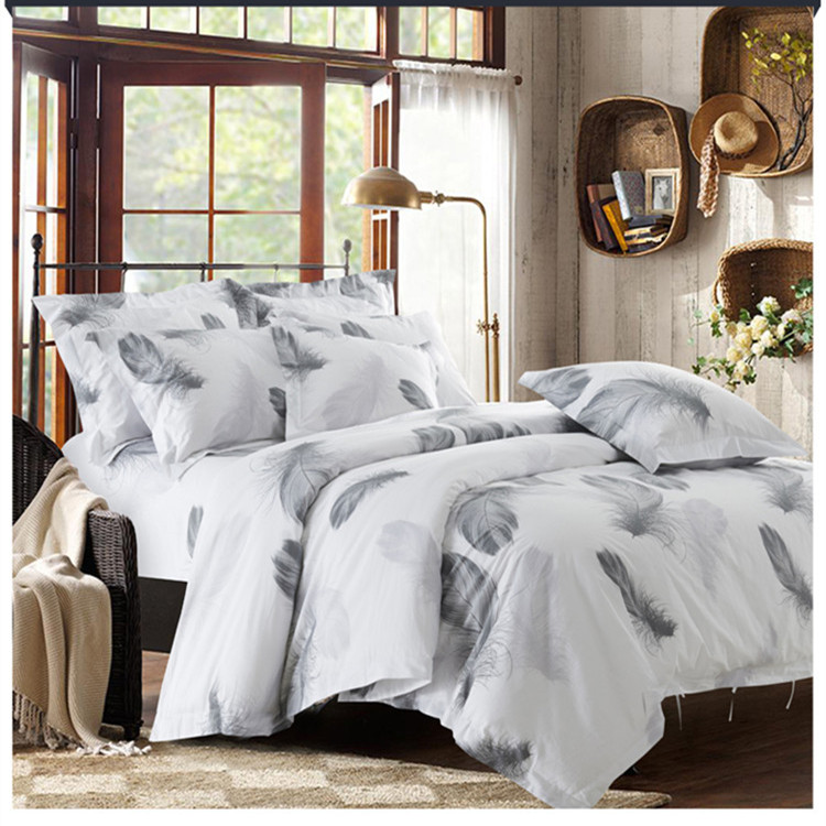 blackwhite 100 cotton satin bedding set twinfullqueenking size tribute - Set De Chambre King Noir