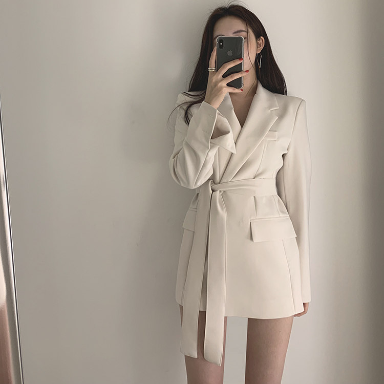 Lace up New Plus size Spring Coat Women   Trench   coat Girls Vintage Fashion Solid Coats Casual Autumn Windbreaker Outerwear