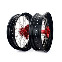 BIKINGBOY for Honda XR650L XR 650 L 1997 1998 1999 2000 2001 2017 16 15 14 13 12 11 10 Supermoto 17*3.5 17*4.25 Wheel Rims Hubs