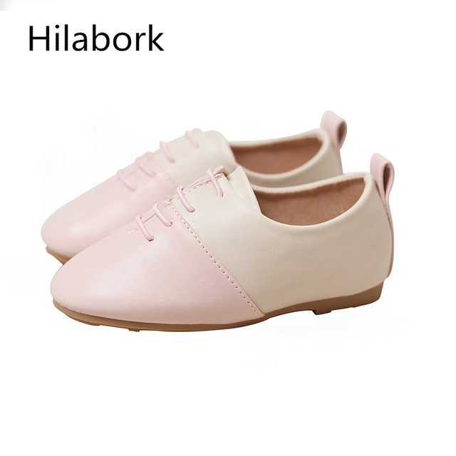 Spring and Autumn 2017 new casual shoes girls shoes boys England wild baby shoes soft dough shallow mouth infant leather shoes