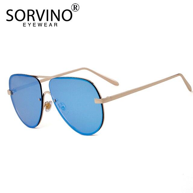 2796496036 SORVINO Designer Pilot Sunglasses Men Women 2018 High Quality 90s Flat Top  Rimless Rose Gold Toad Sun Glasses Big Shades SP112