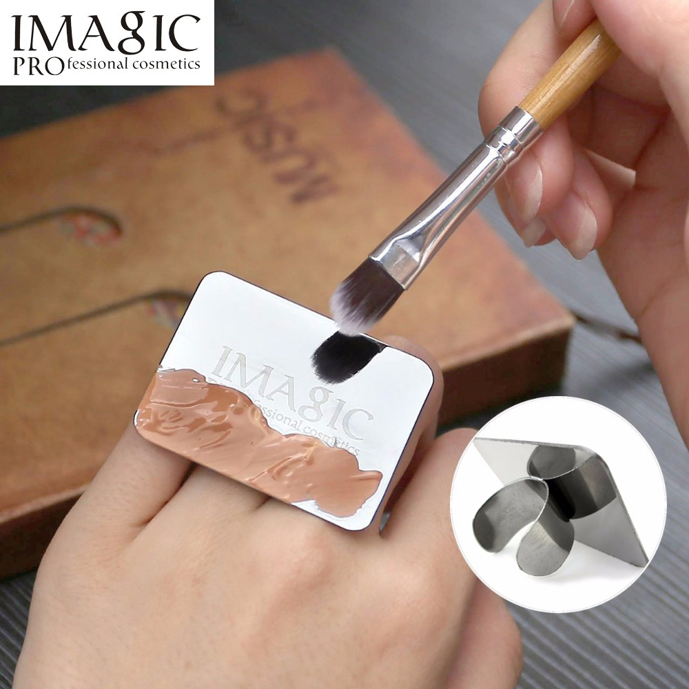 imagic Roestvrijstalen verf Mix palet Ring hulpmiddel Nail Art Makeup - Make-up