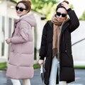2016 Новых зимнее пальто женщин хлопка-ватник плюс размер Куртки и Пальто черный JN1020