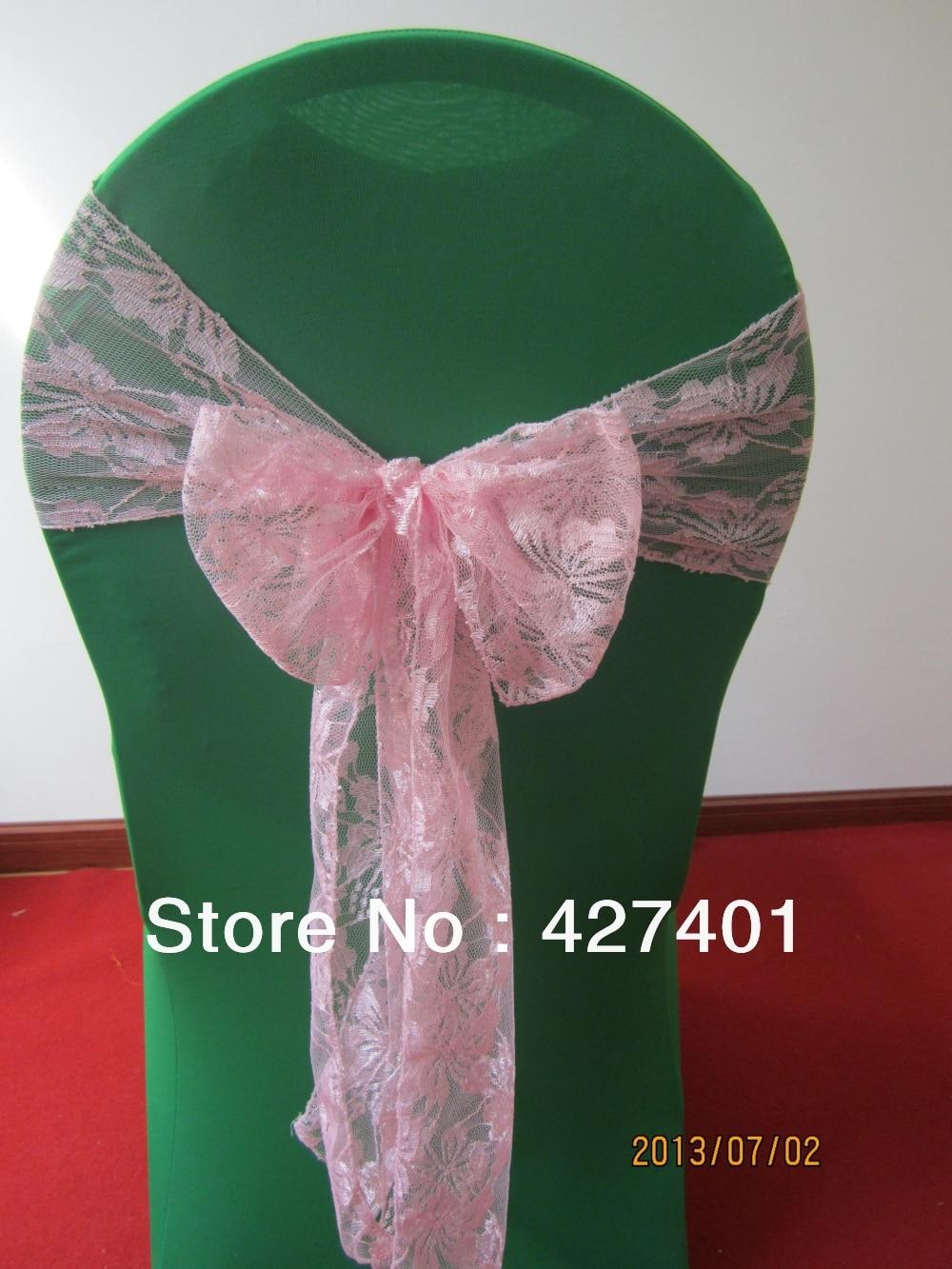 ✅Venta caliente Rosa Encaje silla para Fundas para Sillas   a678