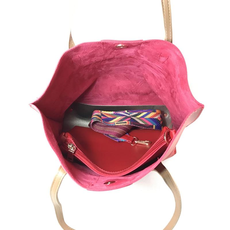 ženska torba Nacionalni vjetar velike boje traka ramena torba - Torbe - Foto 5