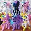 2016 Nova 14 cm rainbow cavalo brinquedos PVC Figuras Crianças Boneca de presente Anime Figura de ação Crianças Brinquedos Para Meninos Das Meninas boneca brinquedos Unicórnio