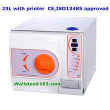 23L B class + printer dental medical sterilizer with CE and ISO 13485 free shipping