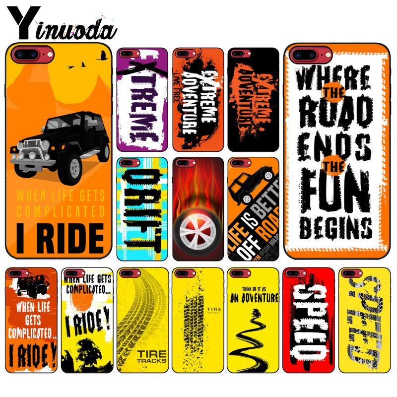 Image 1 - Yinuoda Off road tire track Customer High Quality Phone Case for Apple iPhone 8 7 6 6S Plus X XS MAX 5 5S SE XR Cover-in Half-wrapped Cases from Cellphones & Telecommunications