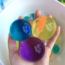 30pcs 10 12mm Pearl Shaped Soft Crystal Soil Grow Magic Jelly Ball Hydrogel Water Beads Plant