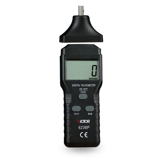 VICTOR 6236 P tachymètre numérique sans contact rpm compteur 2.5 ~ 99,999 RPM Laser Photo tachymètre mesures de vitesse testeur