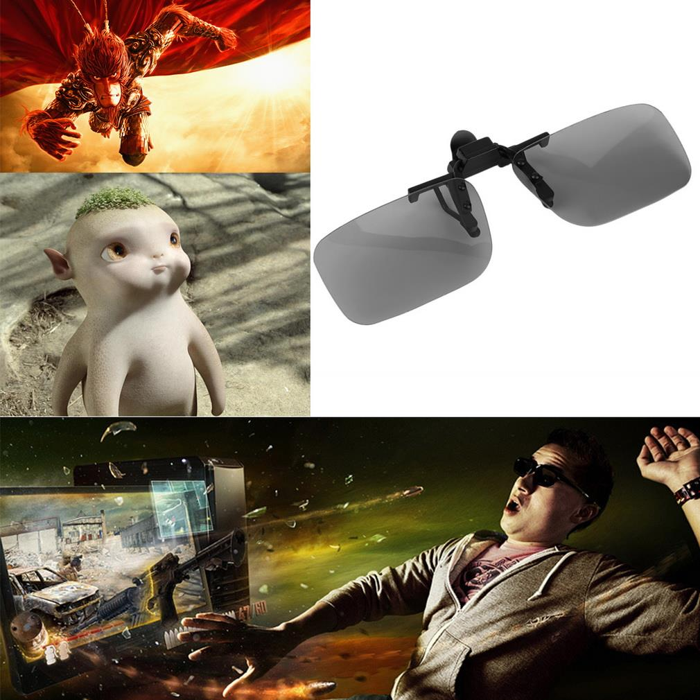 Clip On type Passive Circular Polarized 3D Glasses Clip for 3D TV Movie Cinema Professional 3D Top Quality New Hot Selling