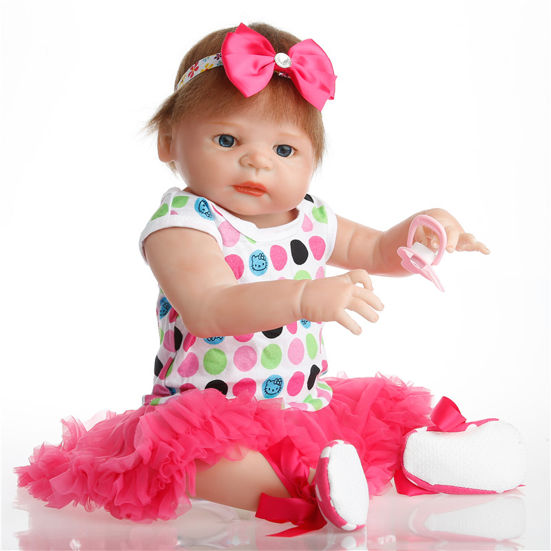 SanyDoll 22 inch 57 cm Silicone reborn dolls, lifelike doll reborn Beautiful princess dress lovely doll SanyDoll 22 inch 57 cm Silicone reborn dolls, lifelike doll reborn Beautiful princess dress lovely doll