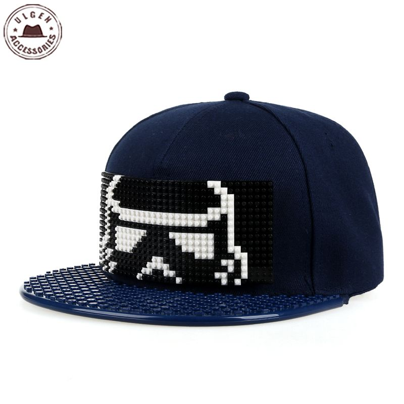 New star wars cap blocks DIY legos baseball hat high quality snapback hat for men and women cool custom hip-hop hat detachable 2016 new new embroidered hold onto your friends casquette polos baseball cap strapback black white pink for men women cap