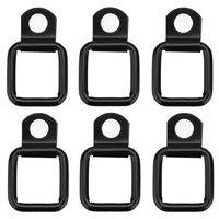 6 יח'\סט שחור לקשור למטה d טבעות מטען עבור ג 'יפ Wrangler תא מטען & מטען נקי כיסוי מתכת עם שחור ציפוי נגד חלודה|מדפים|רכבים ואופנועים -